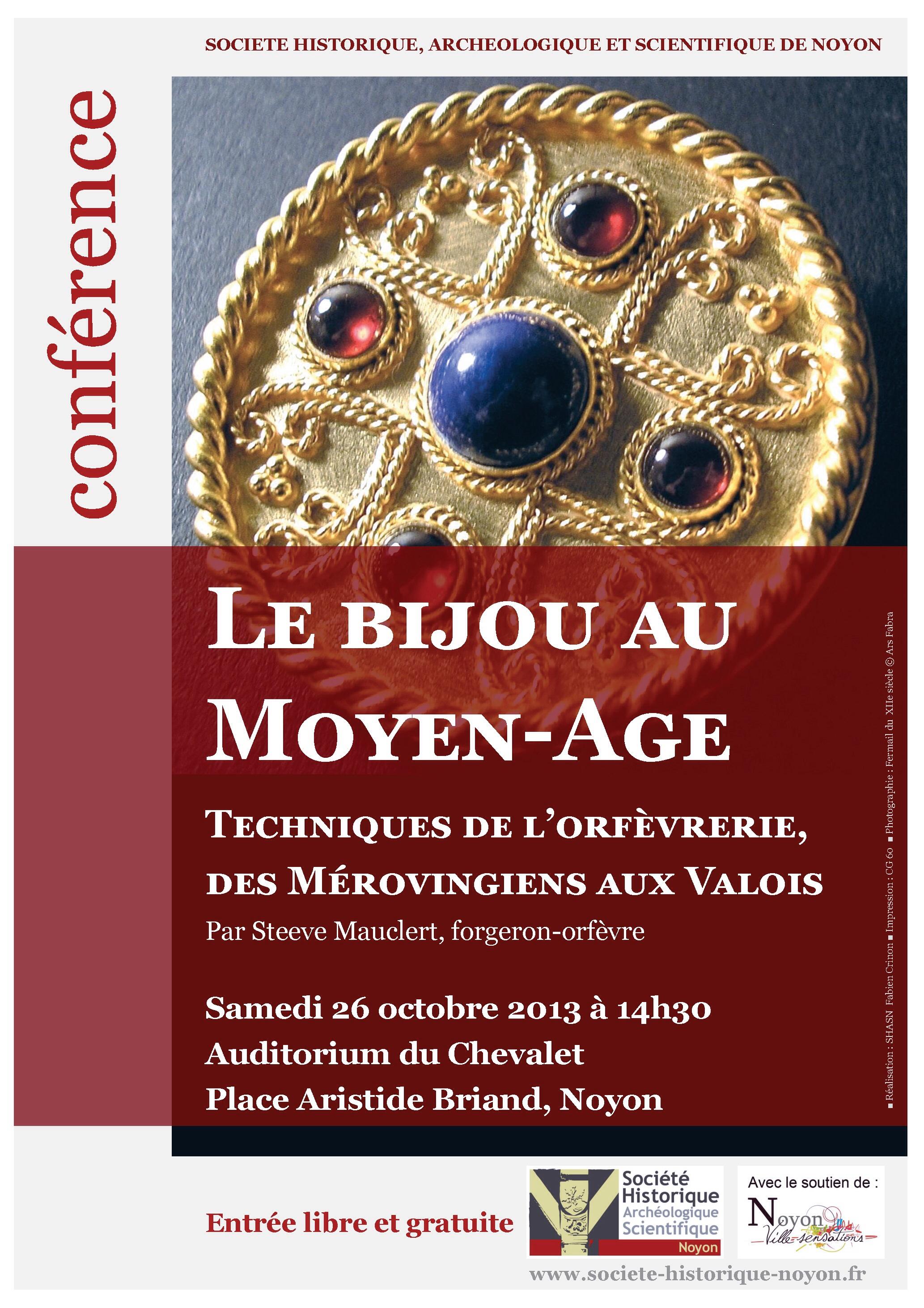 Conférence: le bijou au moyen-âge